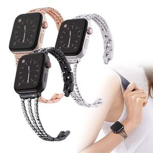 Stainless Steel Rhinestone Apple Watch iWatch Band